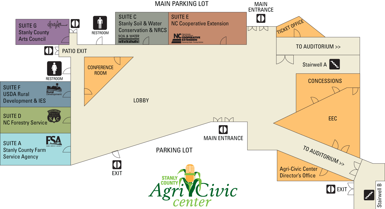 AgriCivic Center facility map
